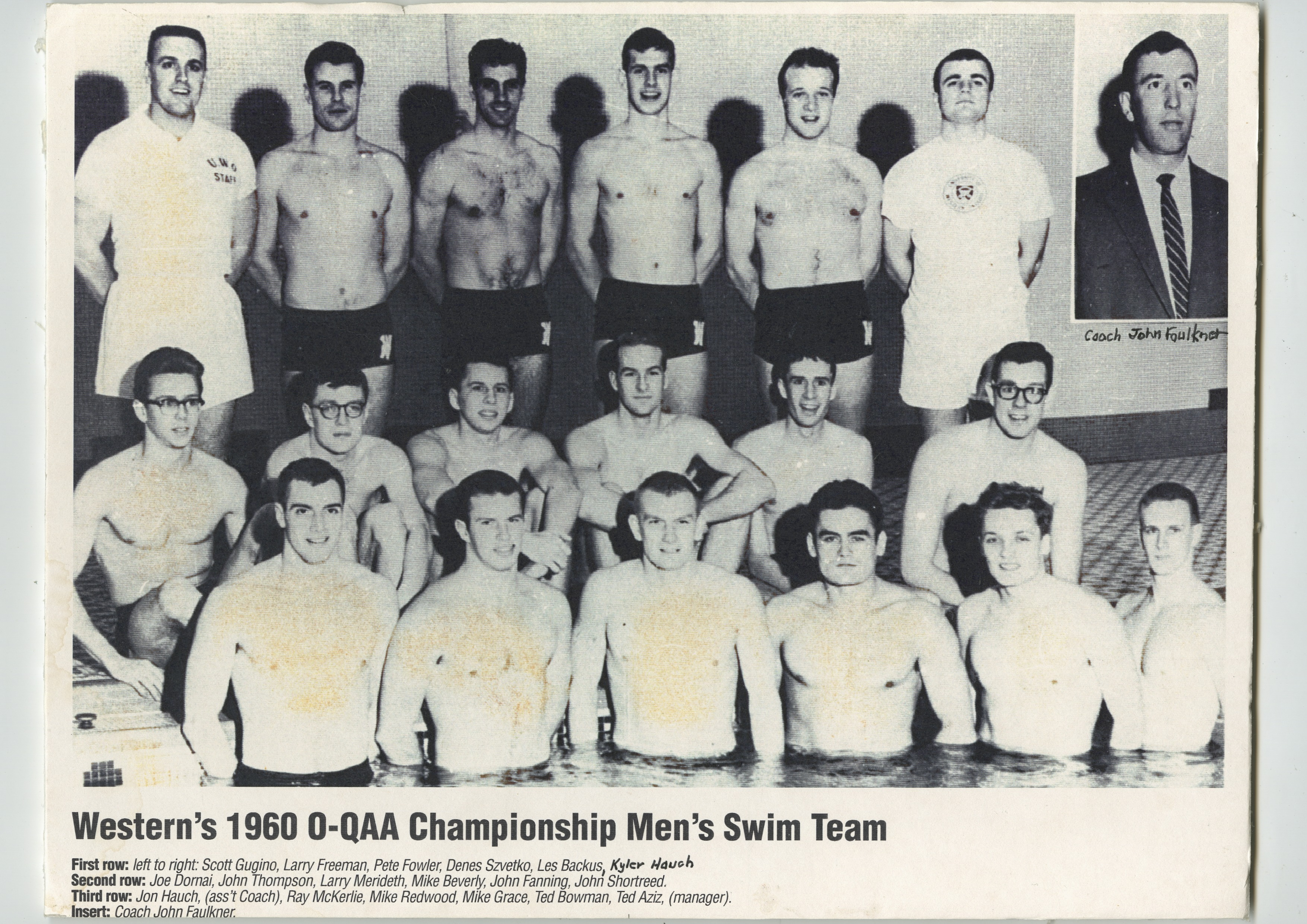 Men's Swimming – John P. Metras Sports Museum